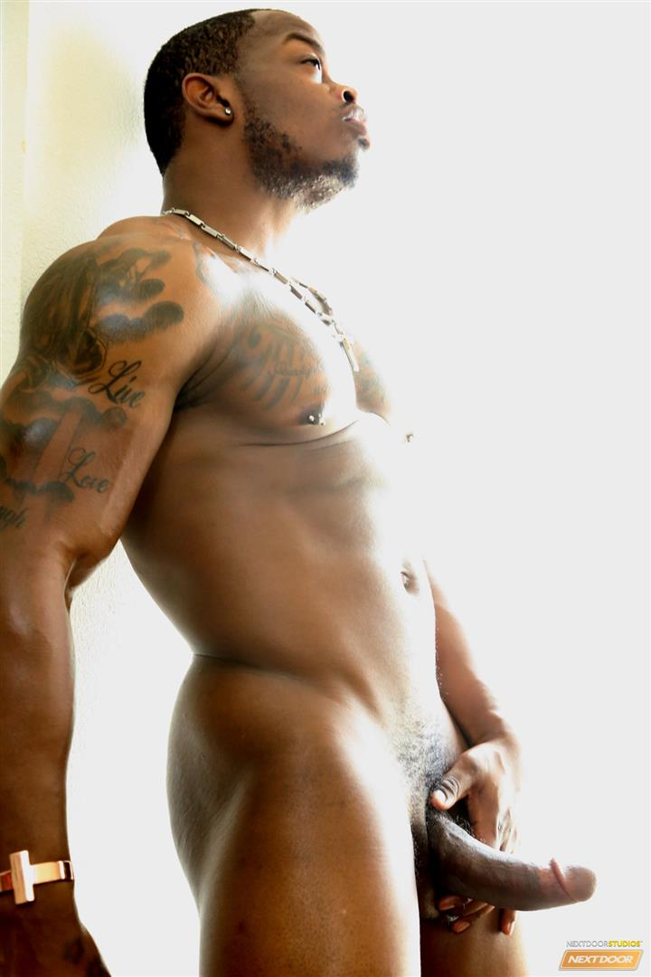 Next-Door-Ebony-Mustang-Muscular-Black-Guy-Jerking-Big-Black-Cock-Big-Uncut-Cock-Amateur-Gay-Porn-09 Bisexual Muscular Black Guy Strokes His Big Black Cock