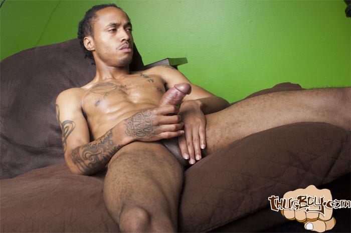 Tattooed hung latino chuy jacking off