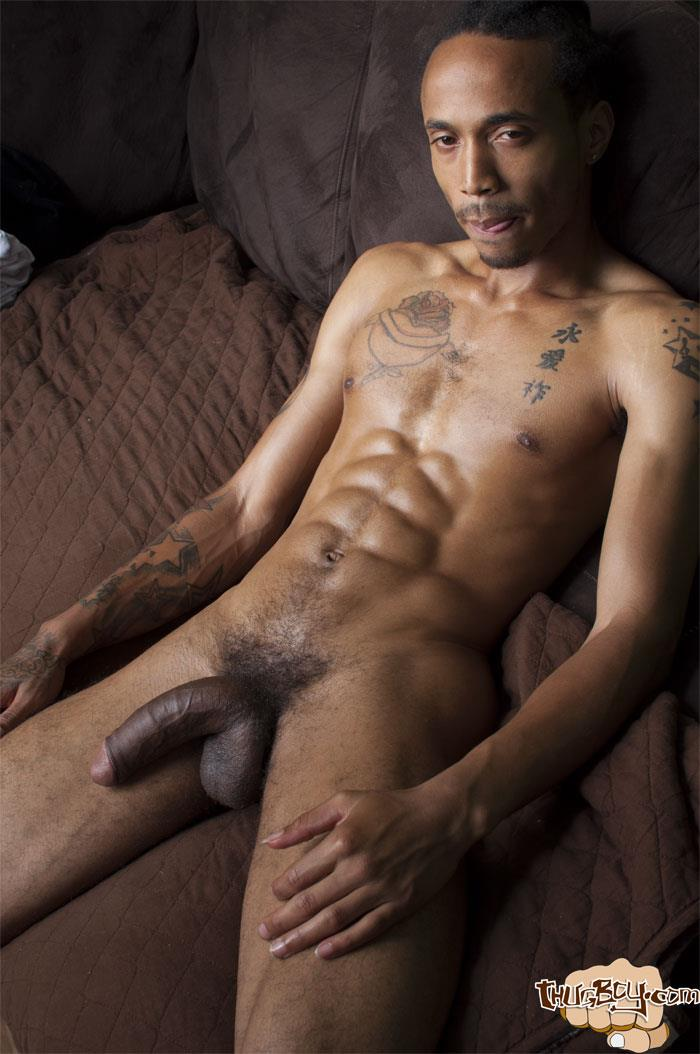 Thug-Boy-Cali-Bandz-Big-Black-Uncut-Cock-Jerk-Off-Amateur-Gay-Porn-44 Thug Boy:  Straight Ghetto Thug Strokes His Big Black Uncut Cock
