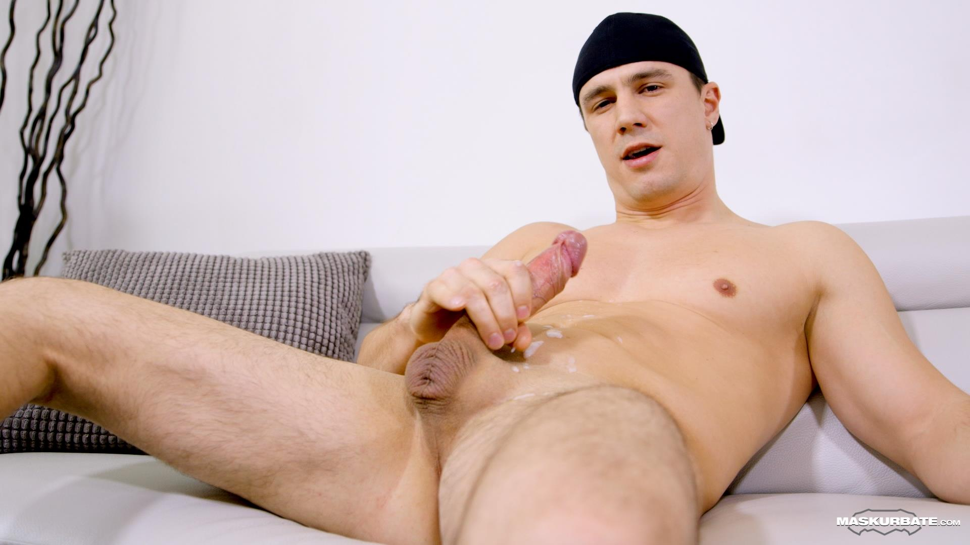 Maskurbate-Ricky-Muscl-Jock-Stroking-His-Big-Uncut-Cock-Amateur-Gay-Porn-13 Smooth Muscle Jock Stroking His Big Uncut Cock