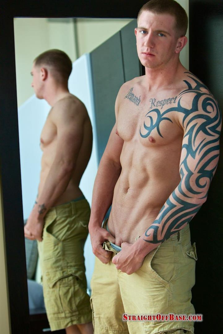Straight Off Base Shane Naked Marine Jerk Off Amateur Gay Porn 04 Muscled Marine Corporal Jerks His Smooth Shaved Cock
