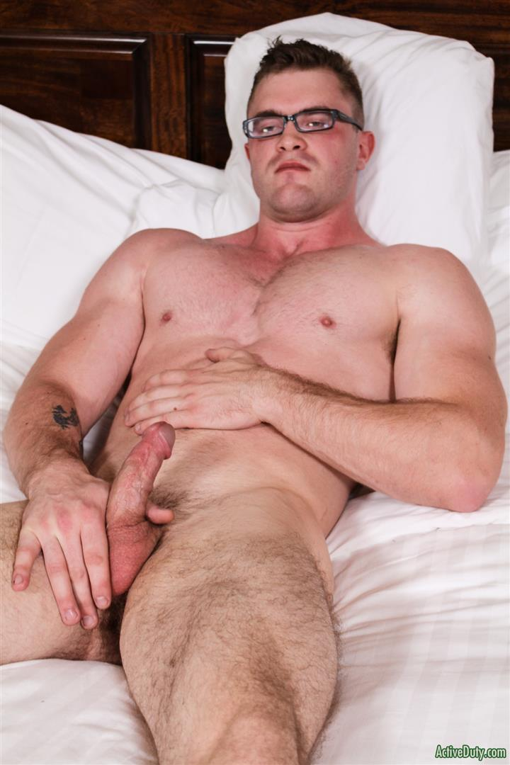 Active-Duty-Scott-Ambrose-Muscle-Naked-Marine-Jerking-Off-Amateur-Gay-Porn-11 Hairy Muscular American Marine Jerks His Thick Cock