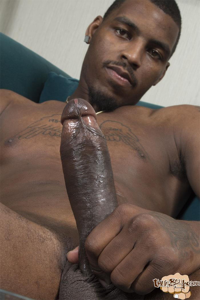 Thug-Boy-Tyrelle-Big-Black-Uncut-Cock-Jerk-Off-Amateur-Gay-Porn-53 Thug Boy Tyrelle Strokes His Big Black Uncut Cock