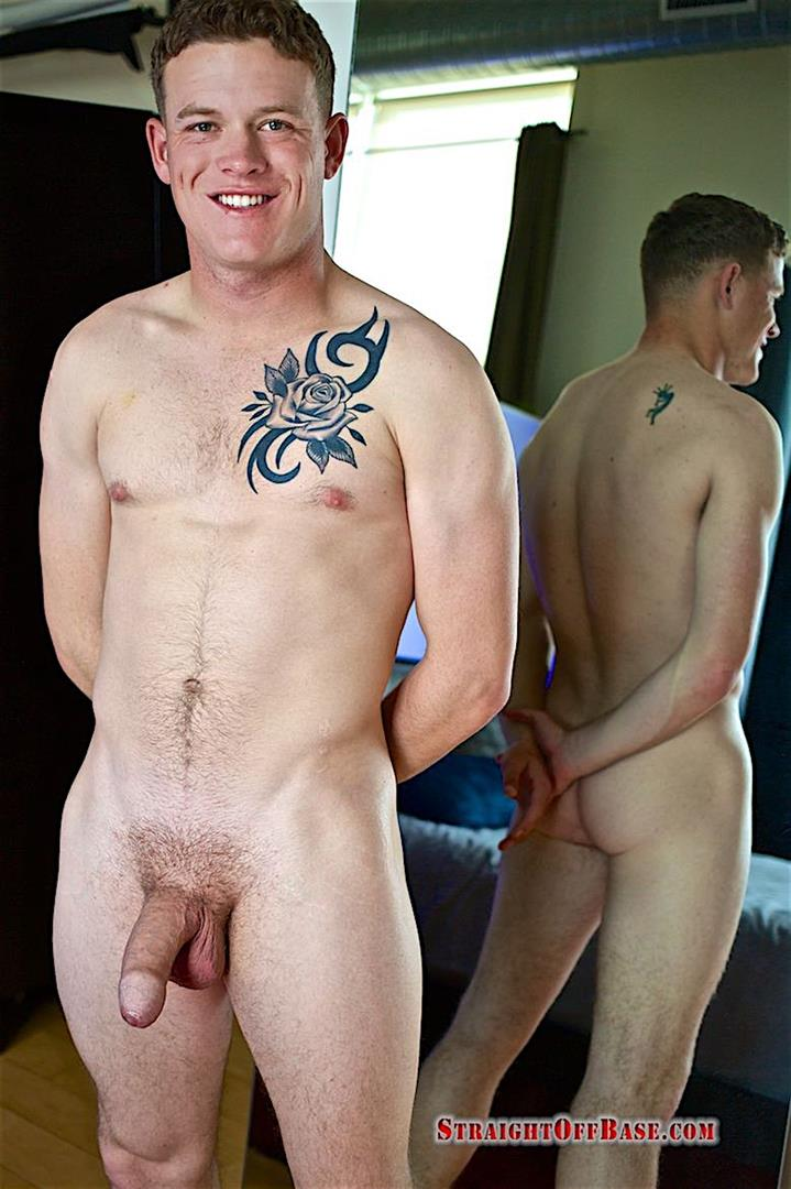 Straight Off Base Aamon Naked Marine With A Big Uncut Cock 20 Irish American US Marine Naked And Stroking His Big Uncut Cock