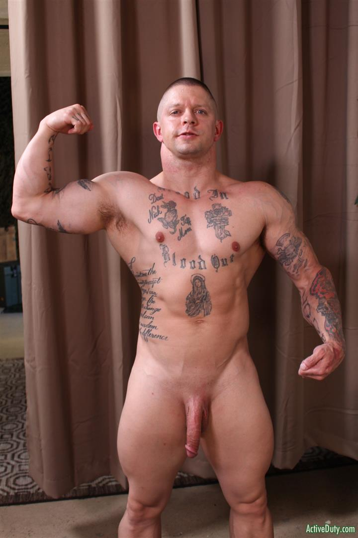 Active-Duty-Owen-Steal-Naked-Muscular-Marine-Jerking-Off-Big-Cock-08 Naked Hung Muscular Marine Jerks His Big Hard Cock