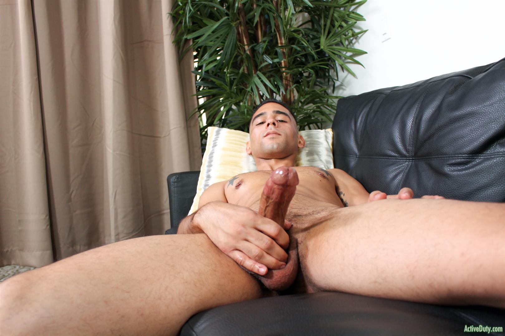 Active-Duty-Rossi-Thick-Dick-Naked-Soldier-Jerking-Off-Video-08 Thick Dick Army Soldier Jerks Out A Creamy Load Of Cum