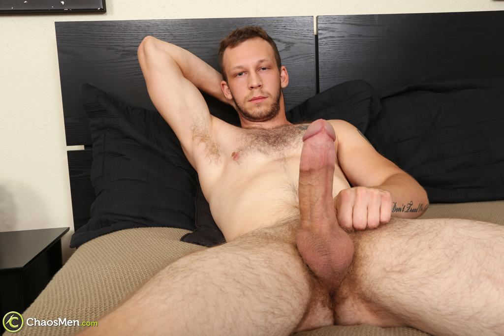 Chaosmen-Beckett-Hairy-Otter-With-A-Thick-Cock-Jerking-Off-08 Bisexual Otter Hunk Strokes His Thick 8