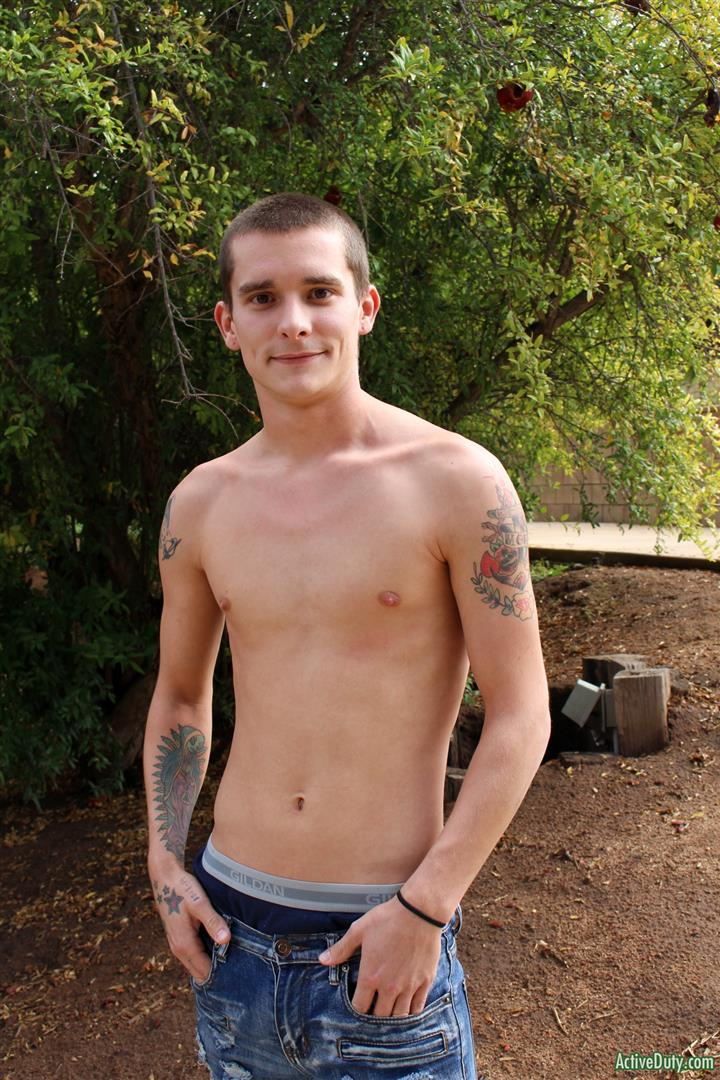 Active-Duty-Cole-Bantam-Naked-Army-Soldier-With-A-Big-Cock-Jerking-Off-04 Army Private Cole Bantam Stroking His Big Cock