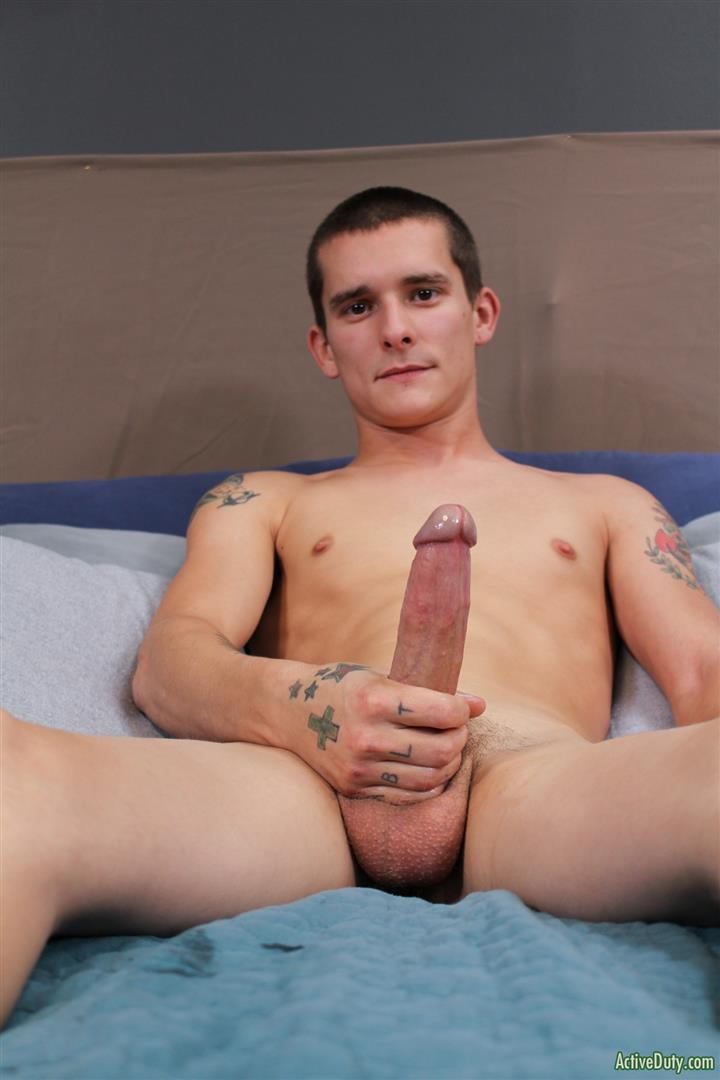 Active-Duty-Cole-Bantam-Naked-Army-Soldier-With-A-Big-Cock-Jerking-Off-06 Army Private Cole Bantam Stroking His Big Cock