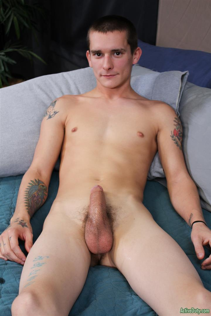 Active-Duty-Cole-Bantam-Naked-Army-Soldier-With-A-Big-Cock-Jerking-Off-09 Army Private Cole Bantam Stroking His Big Cock