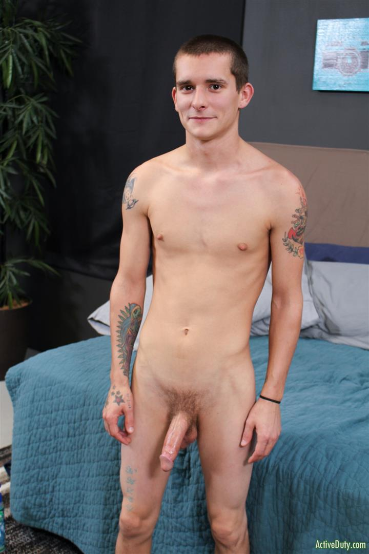 Active-Duty-Cole-Bantam-Naked-Army-Soldier-With-A-Big-Cock-Jerking-Off-10 Army Private Cole Bantam Stroking His Big Cock
