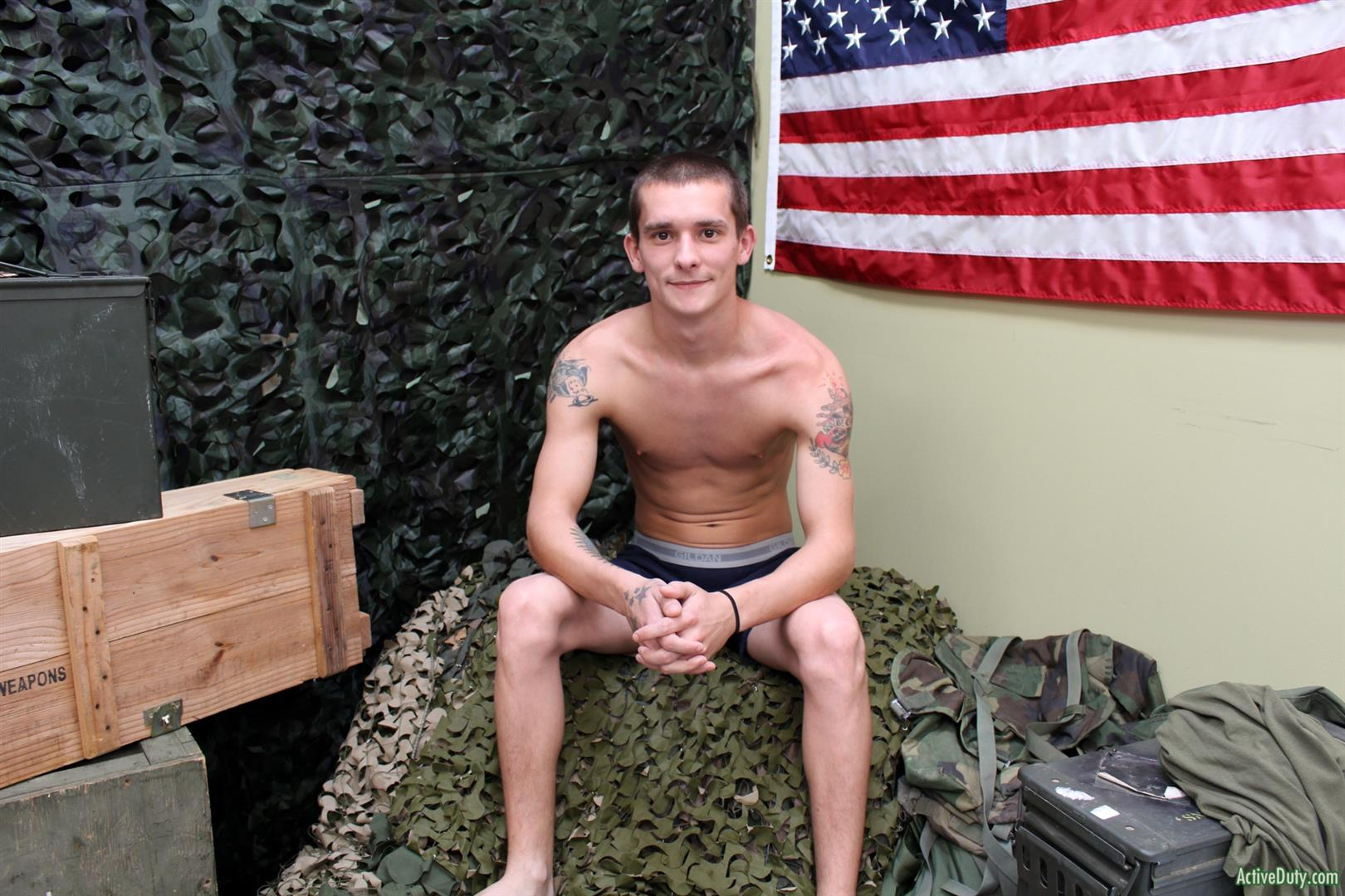 Active-Duty-Cole-Bantam-Naked-Army-Soldier-With-A-Big-Cock-Jerking-Off-15 Army Private Cole Bantam Stroking His Big Cock