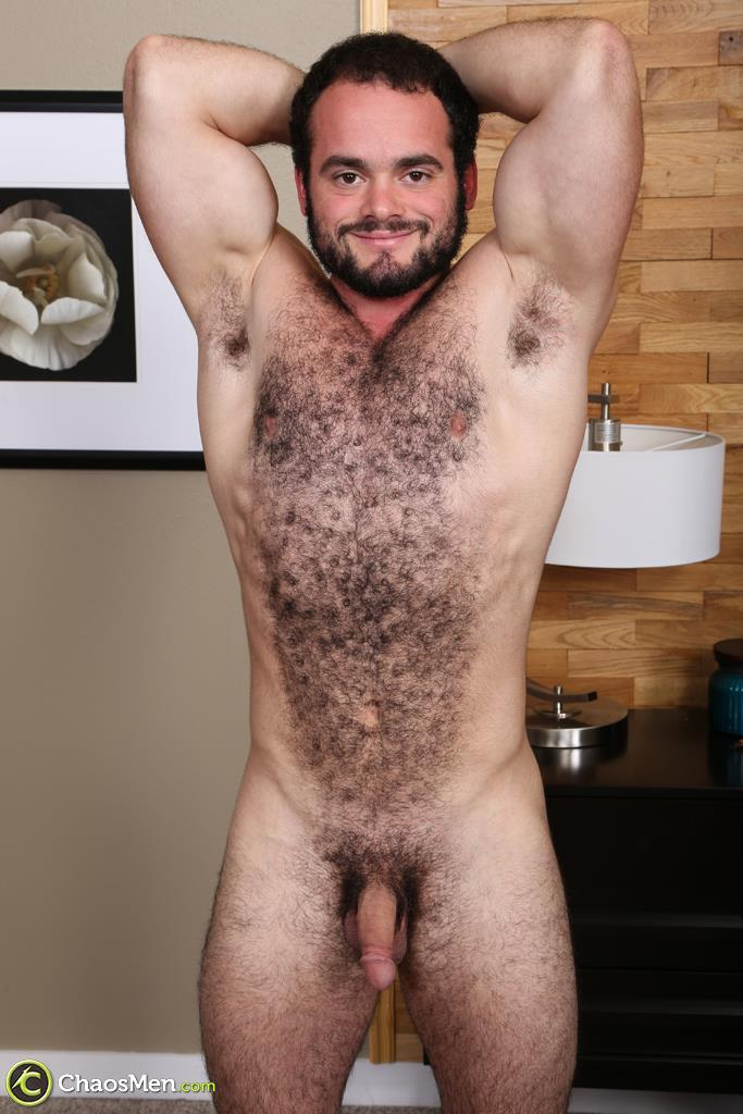 Chaosmen-Steve-Strongarm-Beefy-Hairy-Muscle-Hunk-Jerking-Off-07 Beefy Hairy Muscle Hunk Shows Off His Hairy Ass And Jerks Off
