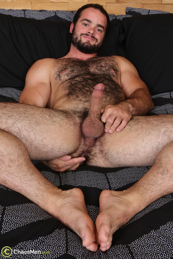 Chaosmen-Steve-Strongarm-Beefy-Hairy-Muscle-Hunk-Jerking-Off-21 Beefy Hairy Muscle Hunk Shows Off His Hairy Ass And Jerks Off