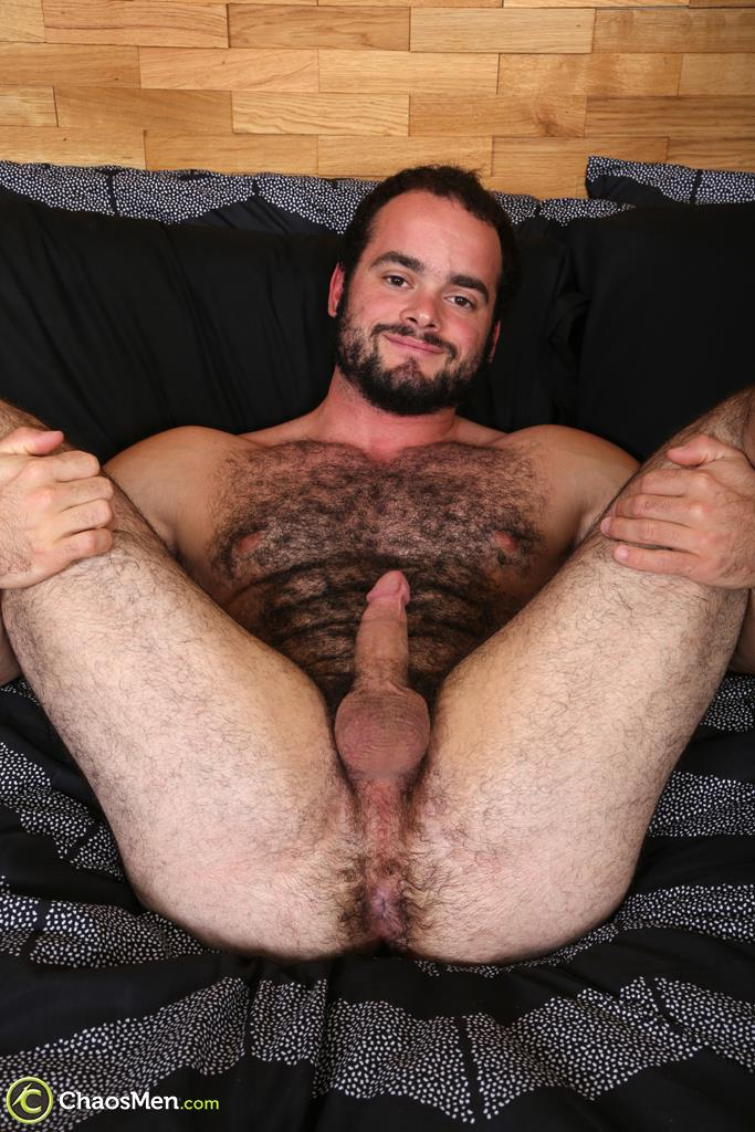 Chaosmen-Steve-Strongarm-Beefy-Hairy-Muscle-Hunk-Jerking-Off-22 Beefy Hairy Muscle Hunk Shows Off His Hairy Ass And Jerks Off