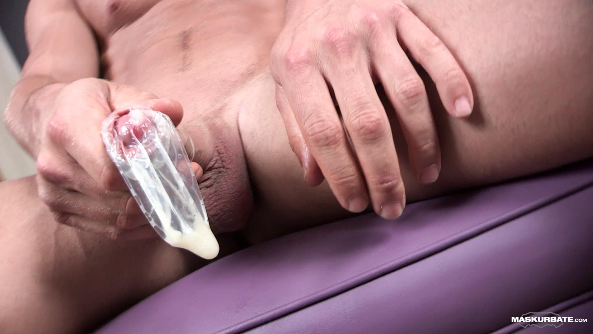 Maskurbate-Brad-and-Pascal-Muscle-Hunk-Jerking-Off-In-A-Condom-09 Straight Masked Muscle Hunk Gets Paid To Jerk Off In A Condom