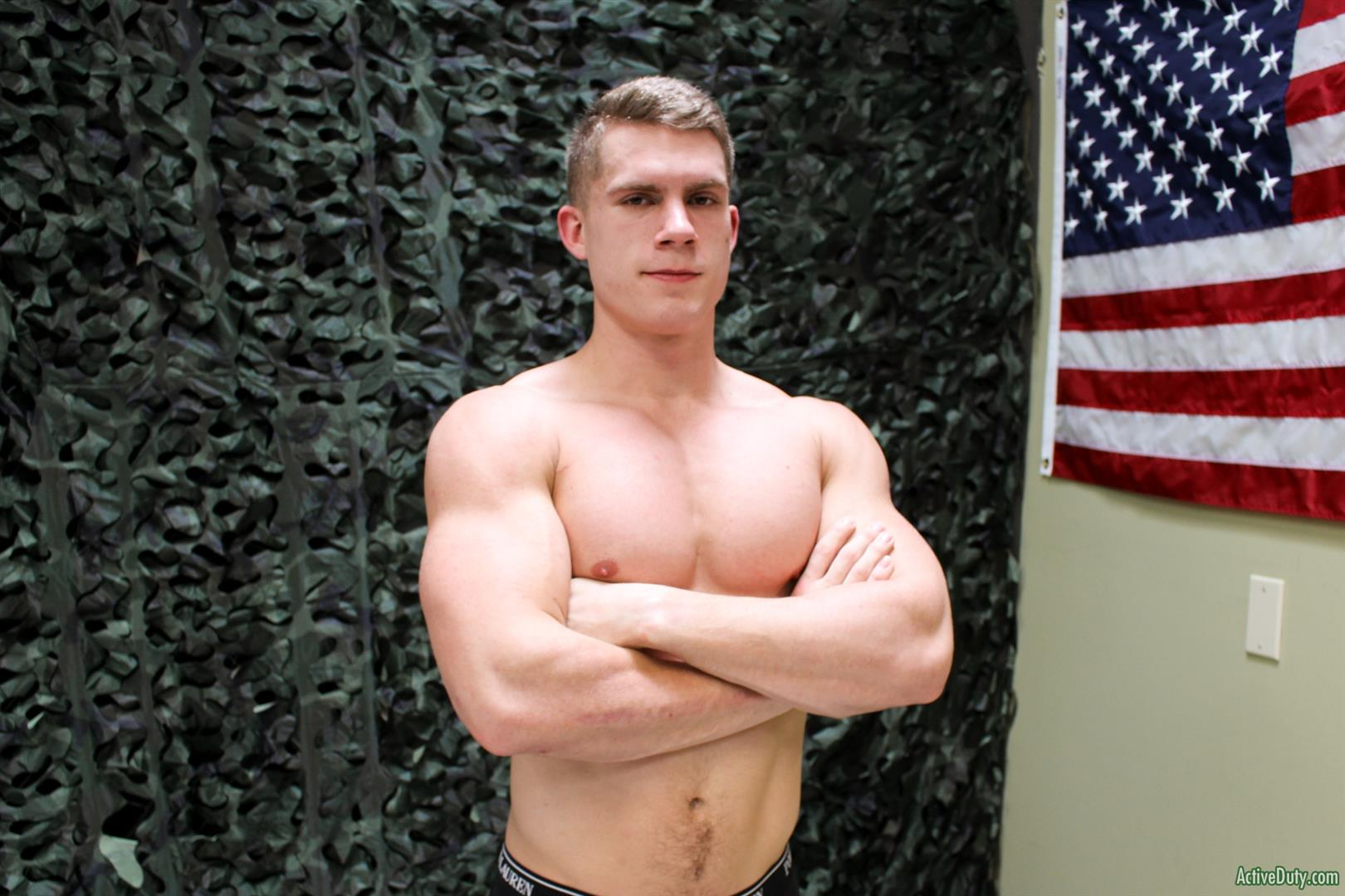 Active-Duty-Danny-D-Naked-US-Marine-Jerking-Off-His-Big-Cock-15 Naked Muscular US Marine Jerking Off His Big Cock