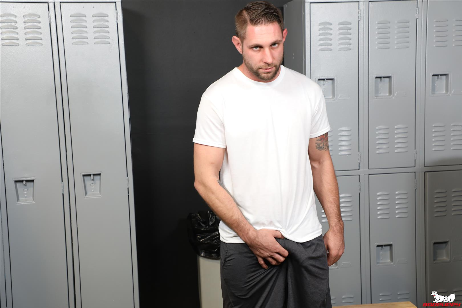Badpuppy-Matt-Wingman-New-Yorker-With-A-Big-Cock-Jerking-Off-03 Sexy New Yorker Jerks Off His Big Cut Cock In The Locker Room