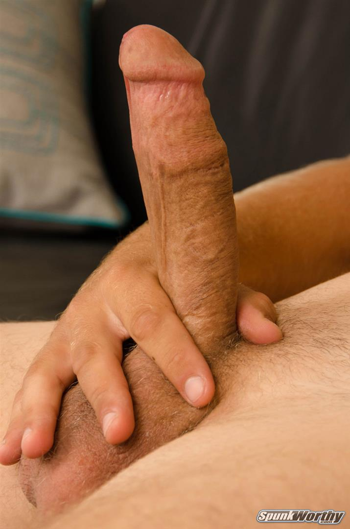 SpunkWorthy-Matthew-Blonde-Straight-Southern-Cal-Guy-Jekring-Off-05 23-Year Old Southern California Straight Boy Jerks Off His Thick Dick