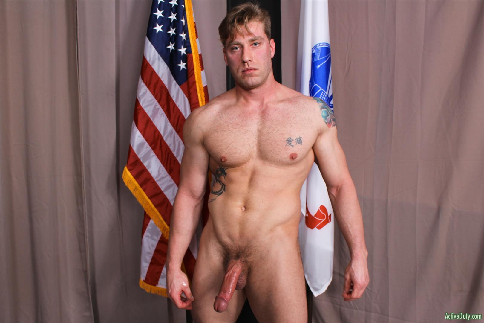Active-Duty-John-Hawkins-Muscular-Air-Force-Guy-Big-Cock-Jerk-Off-Video-11 US Air Force Airman Strokes His Big Hard Cock